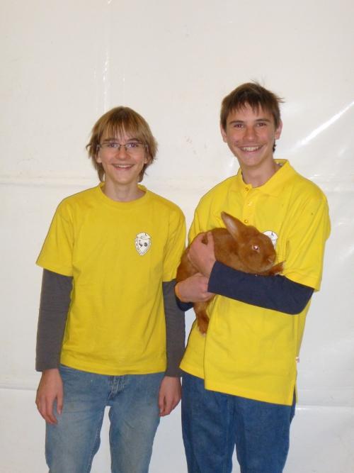 1. Platz Kaninchen Jugend